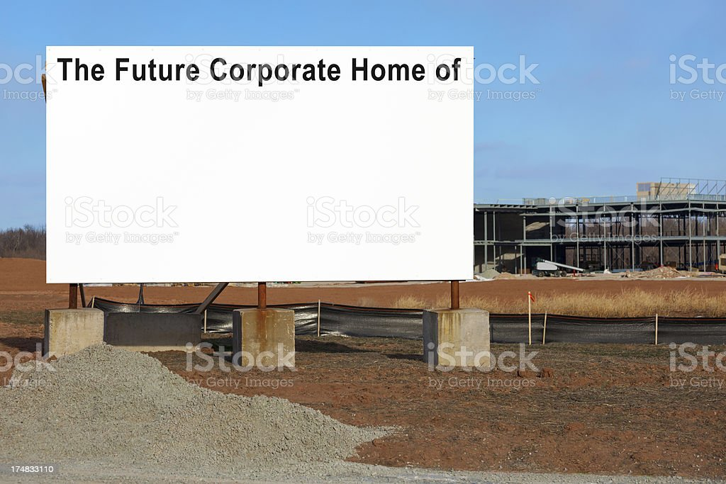 Blank Corporate Headquarters Sign royalty-free stock photo