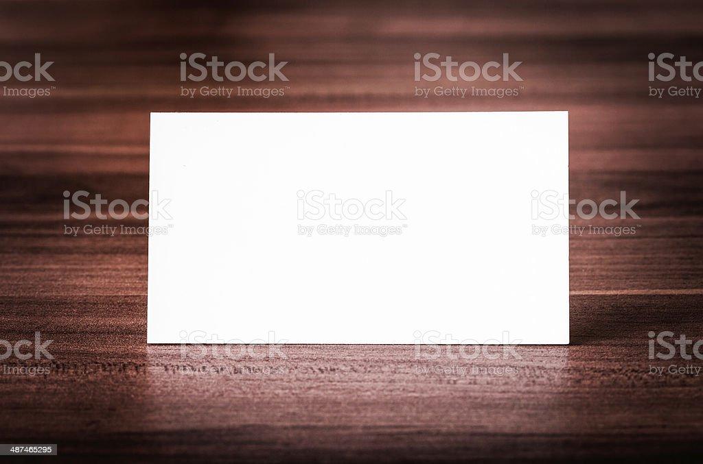 Blank corporate identity business card. stock photo