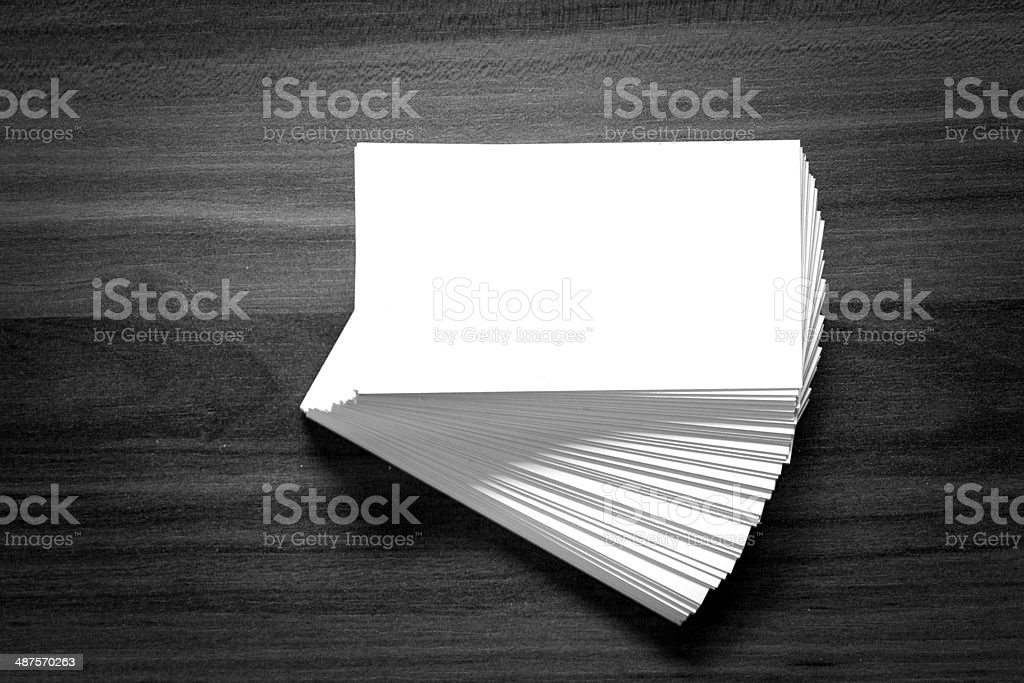 Blank corporate identity business card. stock photo