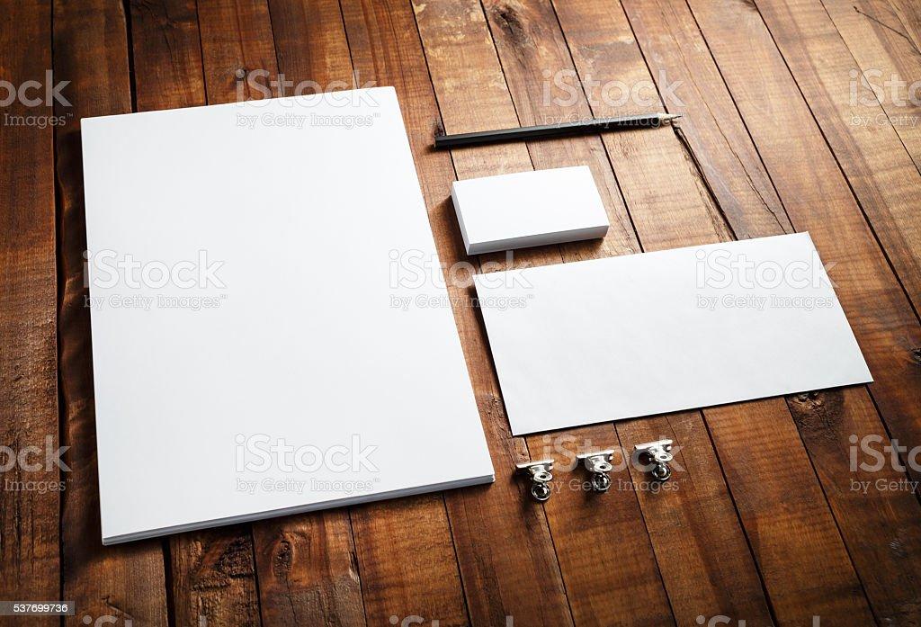Blank corporate identity stock photo