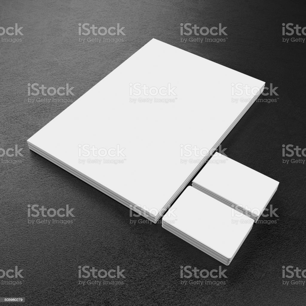 Blank corporate identity template stock photo