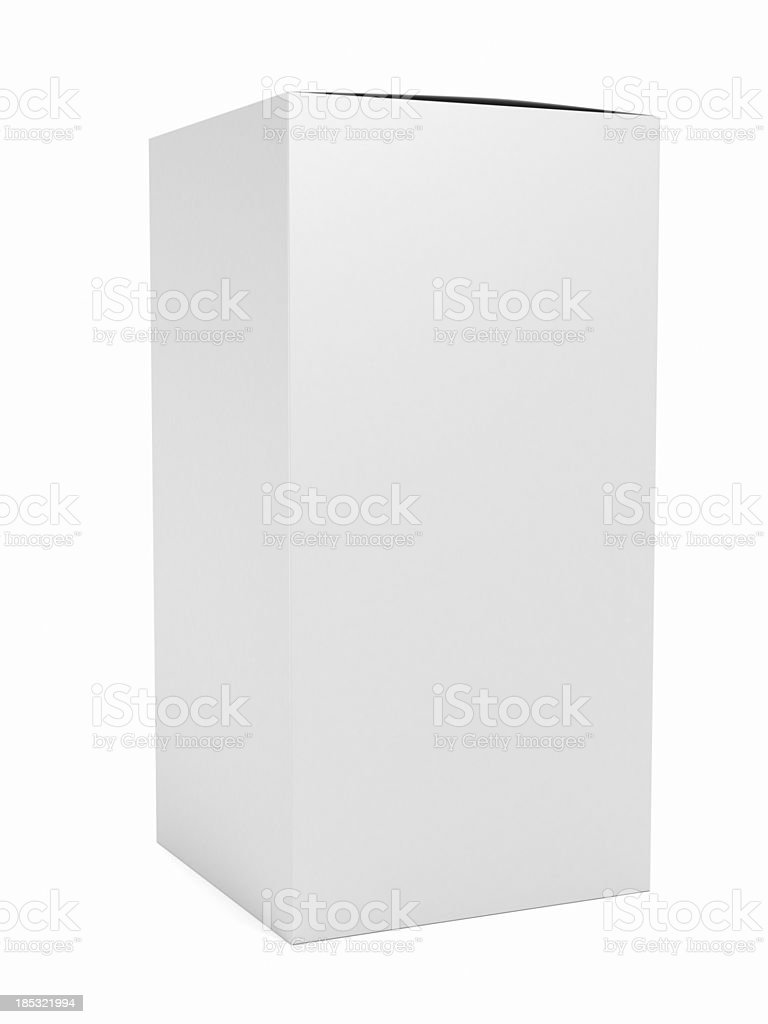 Blank cosmetic box stock photo