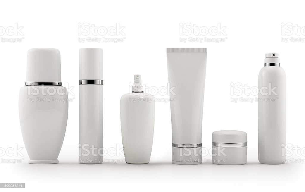 Blank Cosmetics Bottles stock photo