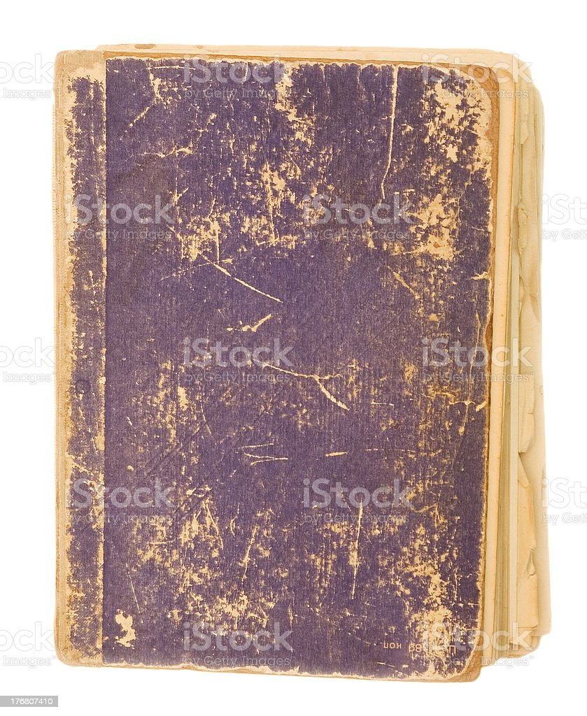 blank cover of old book royalty-free stock photo
