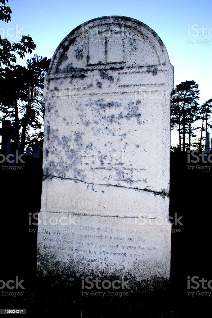 blank cracked tombstone royalty-free stock photo