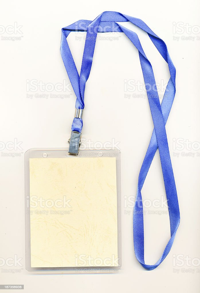 blank credentials stock photo