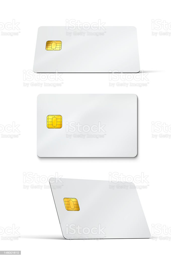 Blank credit cards stock photo