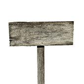 Blank creepy wooden sign