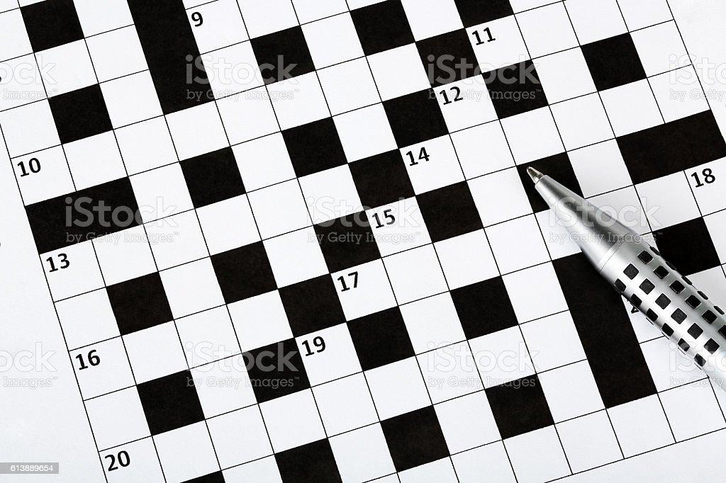 blank crossword puzzle stock photo