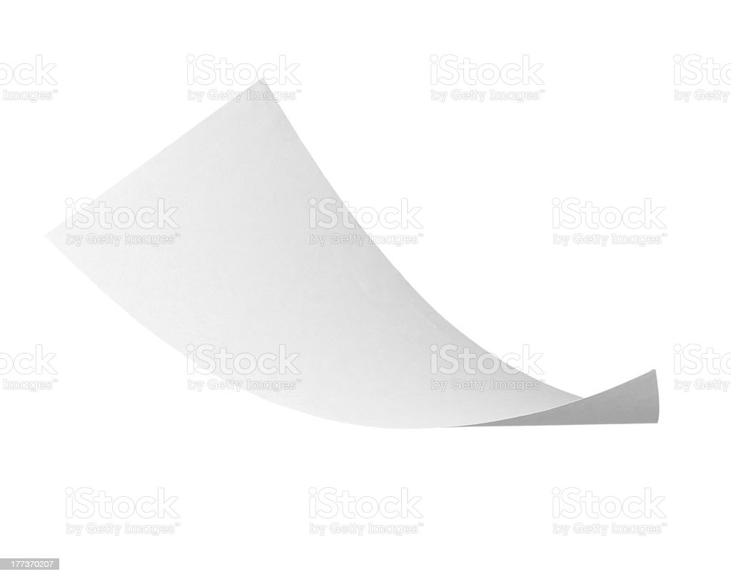 blank curl paper flying in wind royalty-free stock photo