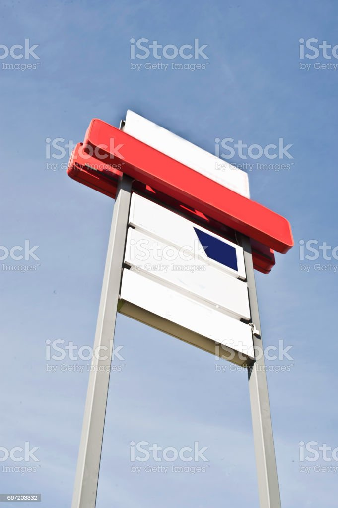Blank Customizable Advertisement Board stock photo