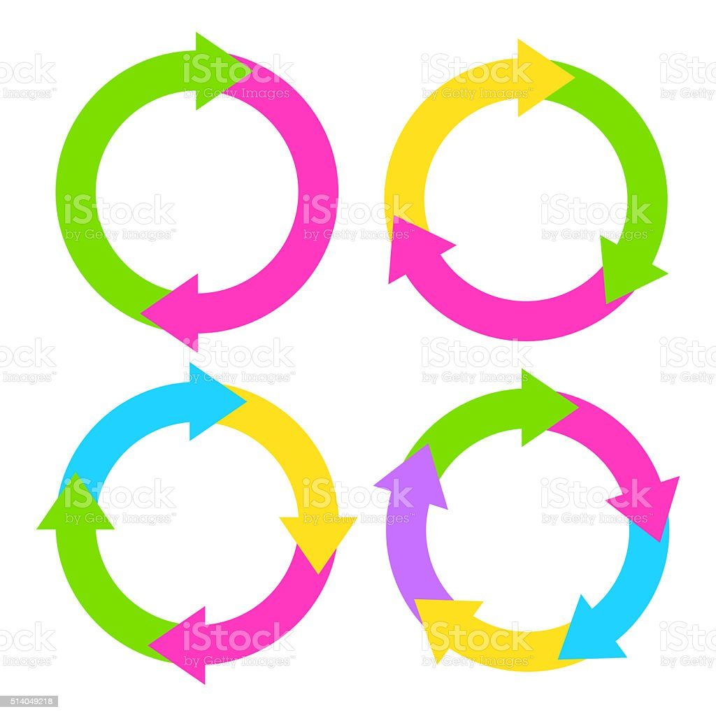 Blank cycle diagrams stock photo