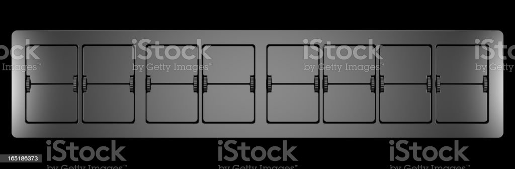 Blank Date Year Month Day Control Panel royalty-free stock photo