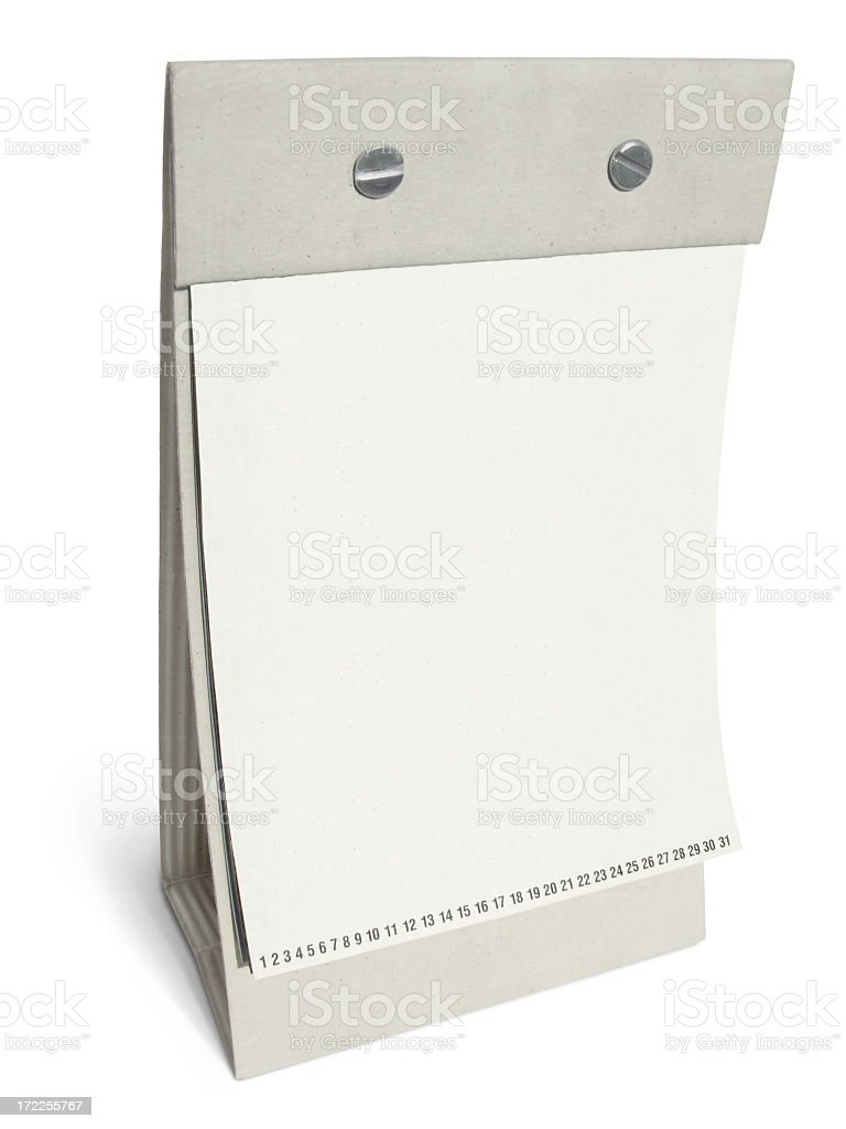 Blank Desk Calendar / Display royalty-free stock photo