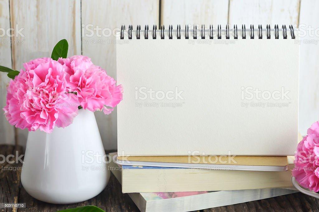 Blank Desk calendar stock photo