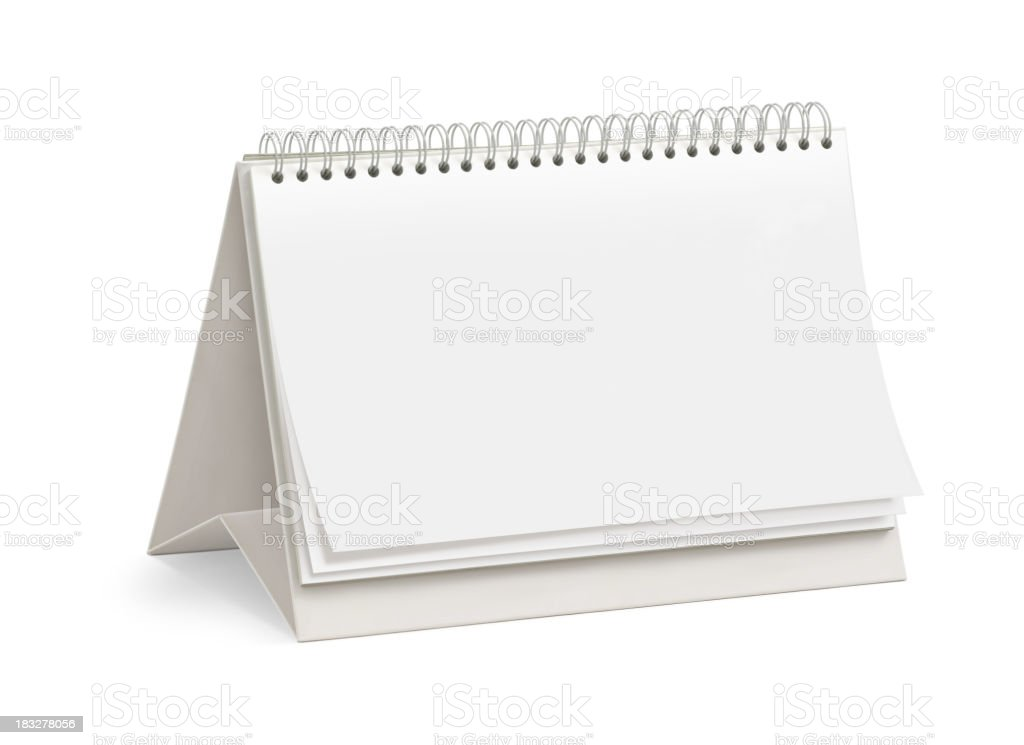 Blank Desktop Calendar royalty-free stock photo