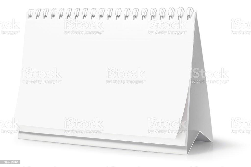 Blank desktop calendar (Clipping Path) royalty-free stock photo