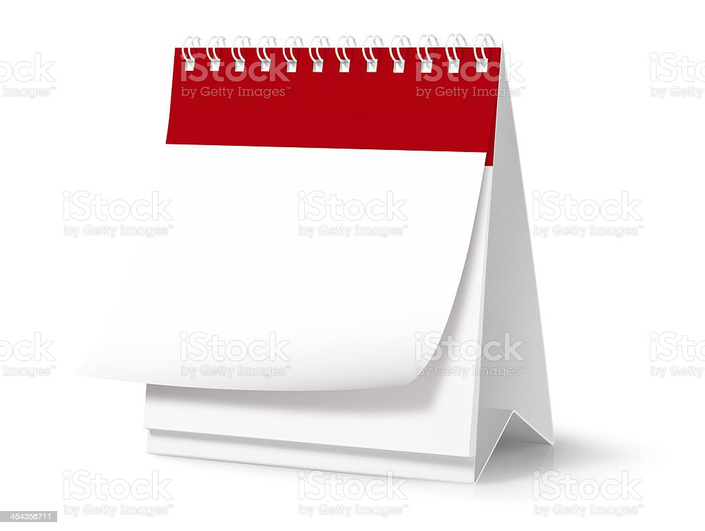 Blank desktop calendar (Clipping Path) royalty-free stock photo