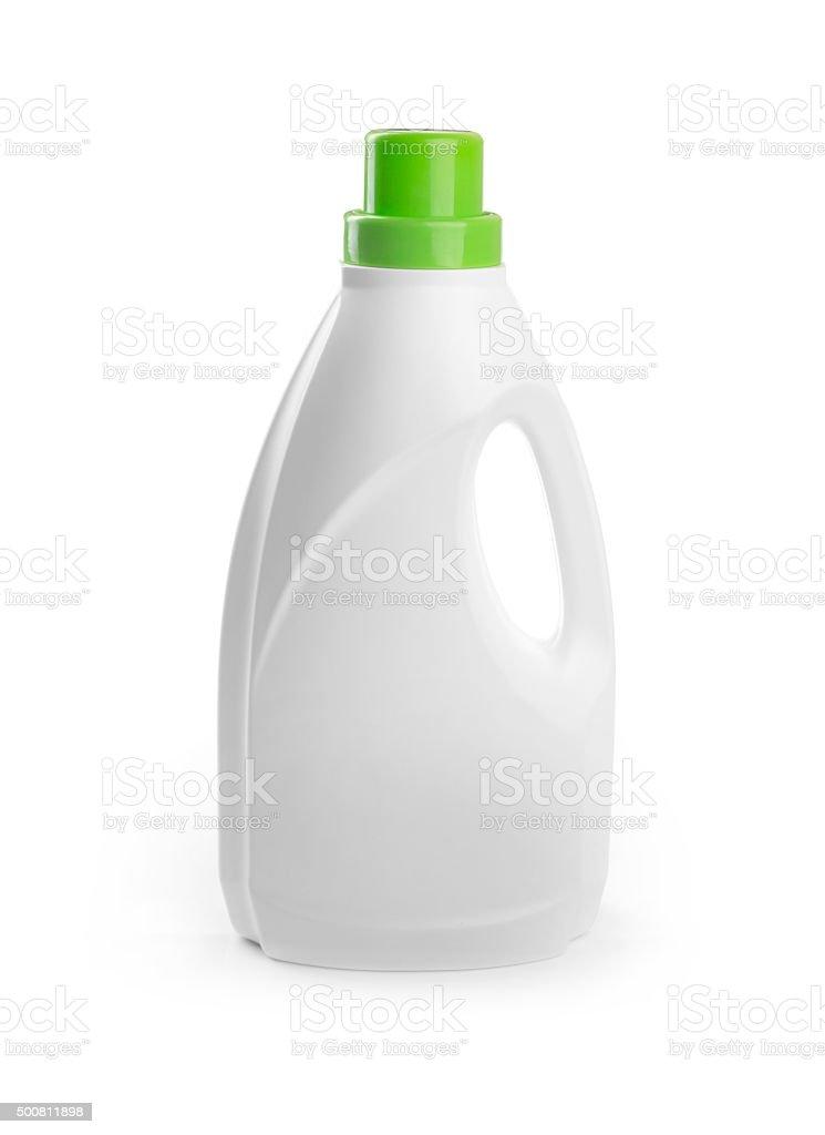 blank detergent bottle isolated on white stock photo