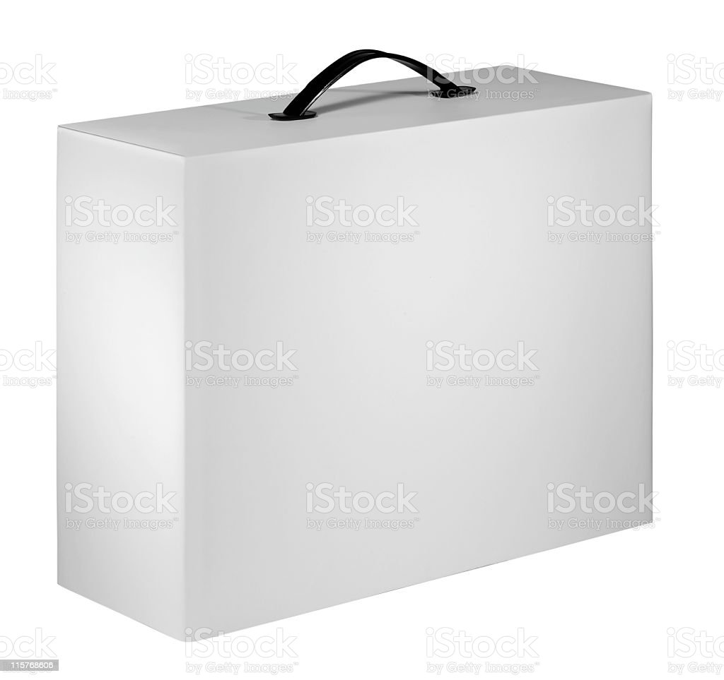 Blank device packing cardboard box stock photo