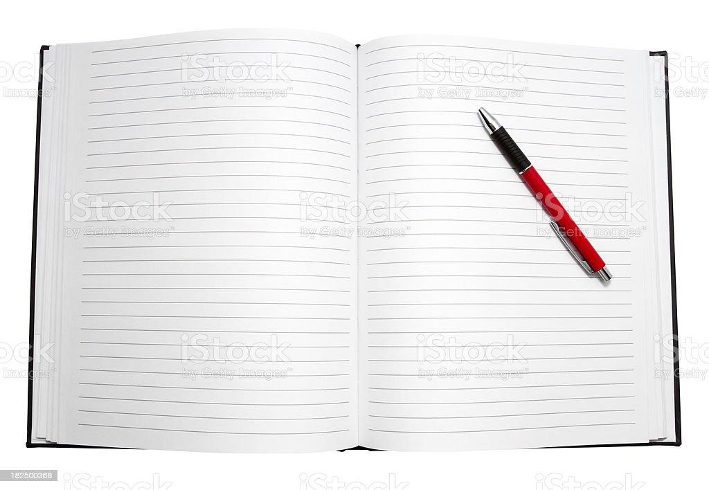 Blank Diary stock photo