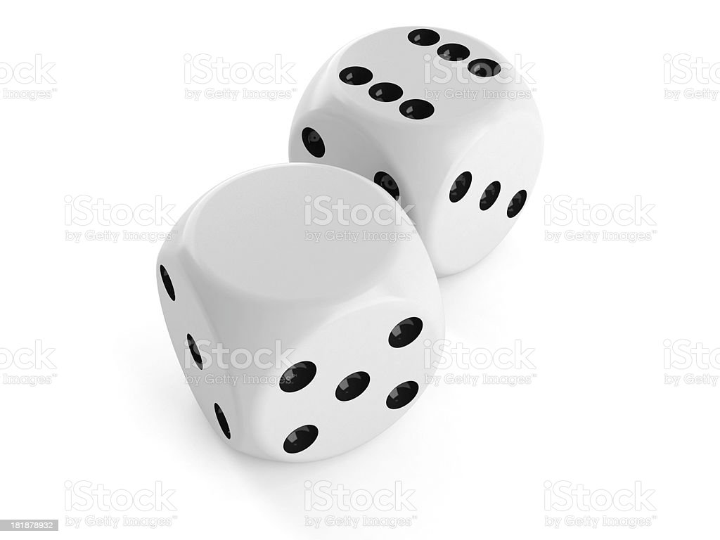 Blank dice stock photo