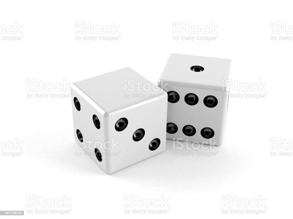 Blank dice royalty-free stock photo