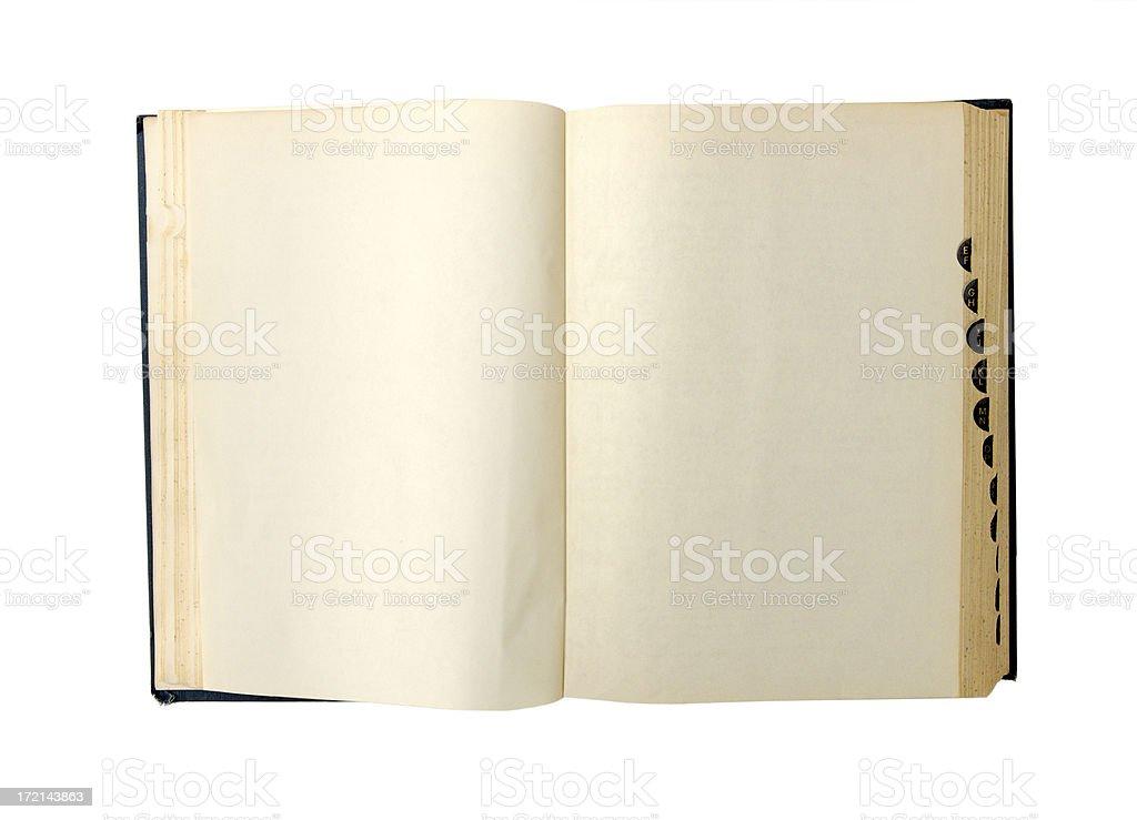 blank dictionary stock photo