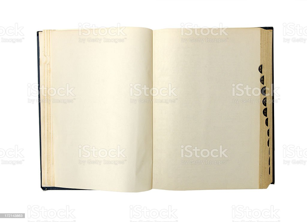 blank dictionary stock photo
