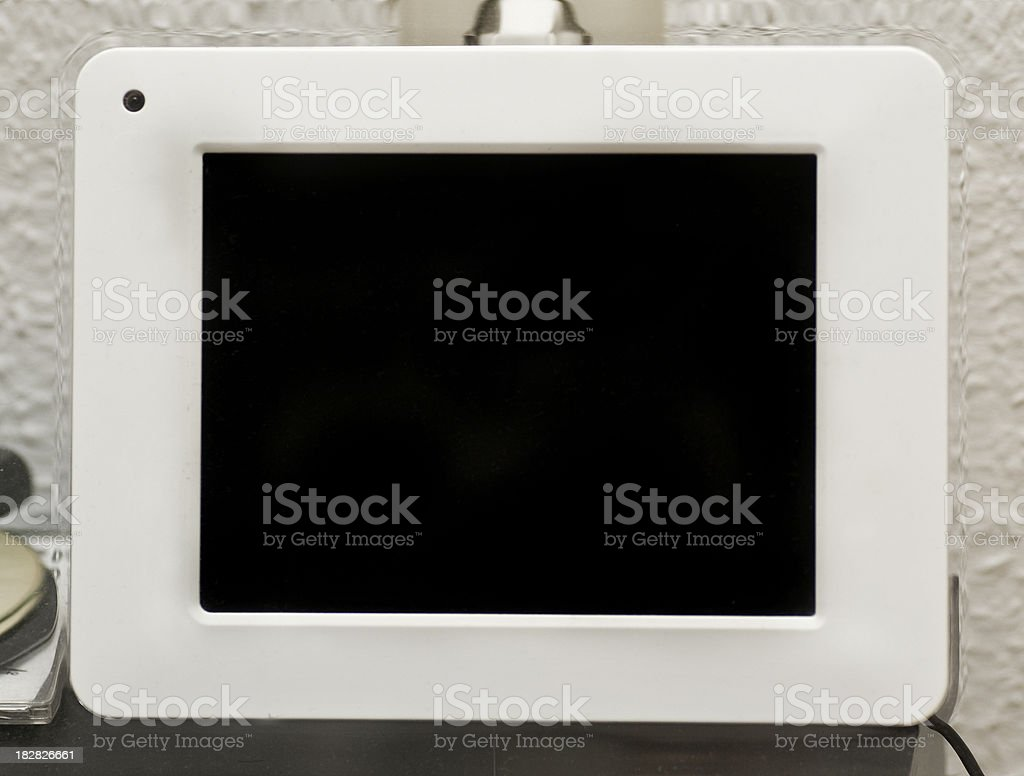 blank digital photo frame with copyspace royalty-free stock photo