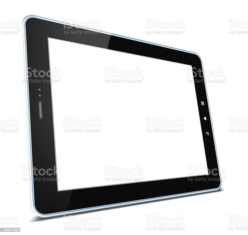 Blank Digital Tablet PC isolated on white background royalty-free stock photo