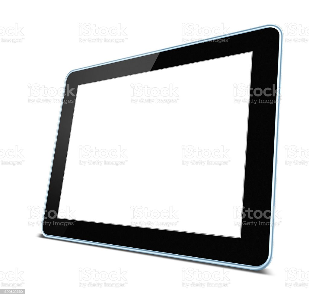 Blank Digital Tablet PC isolated on white background stock photo