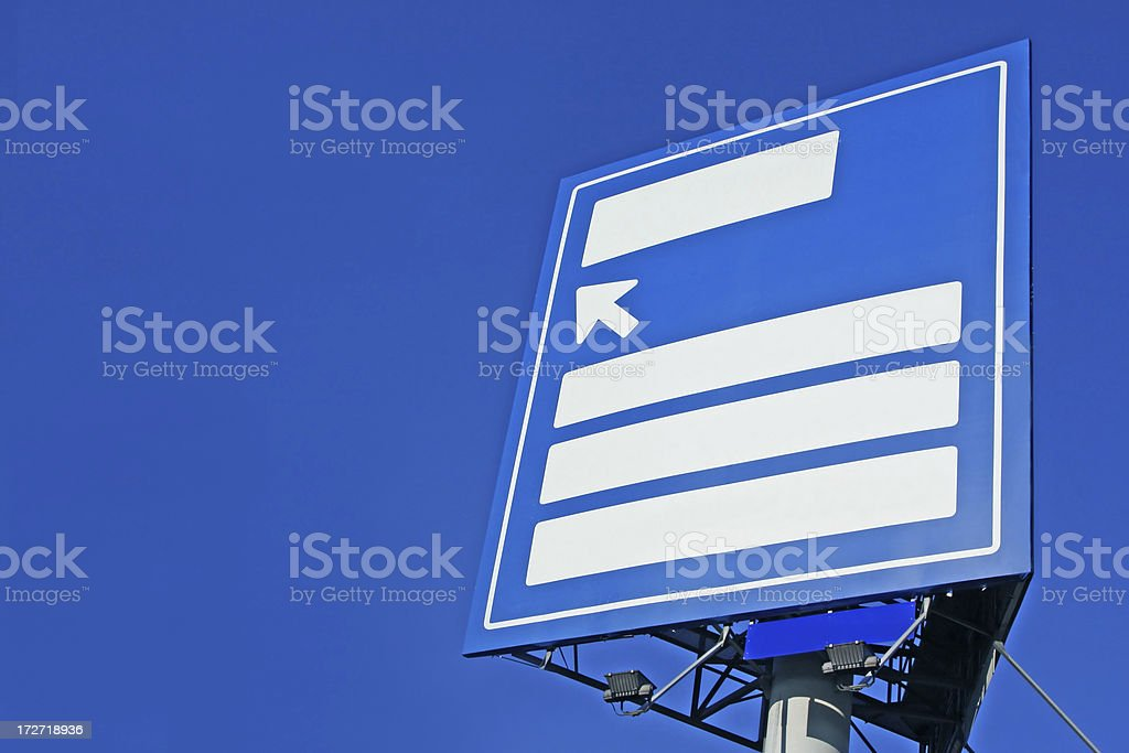 Blank direction board # 7 royalty-free stock photo