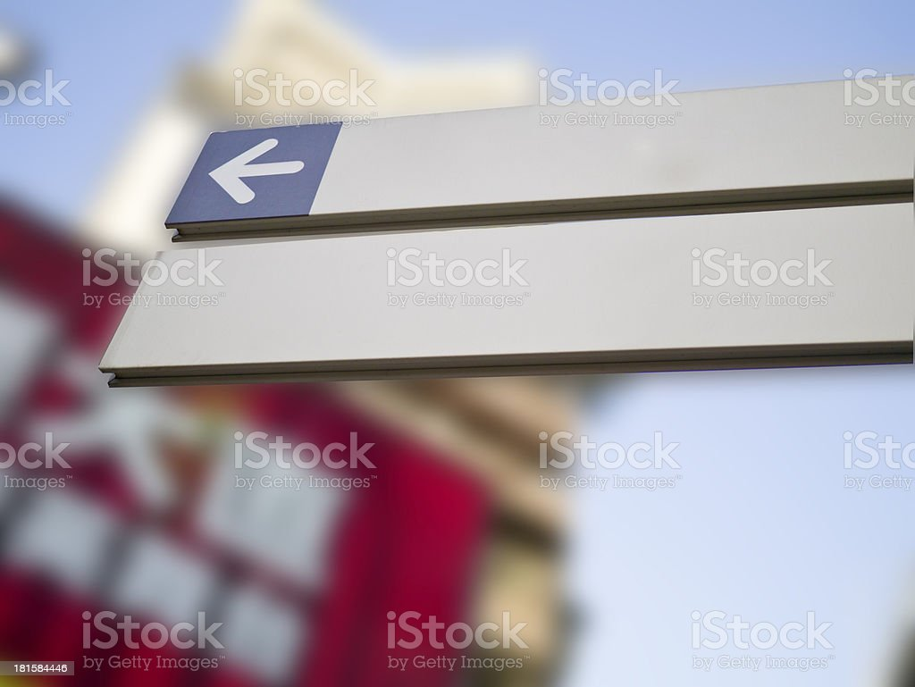 blank direction sign royalty-free stock photo
