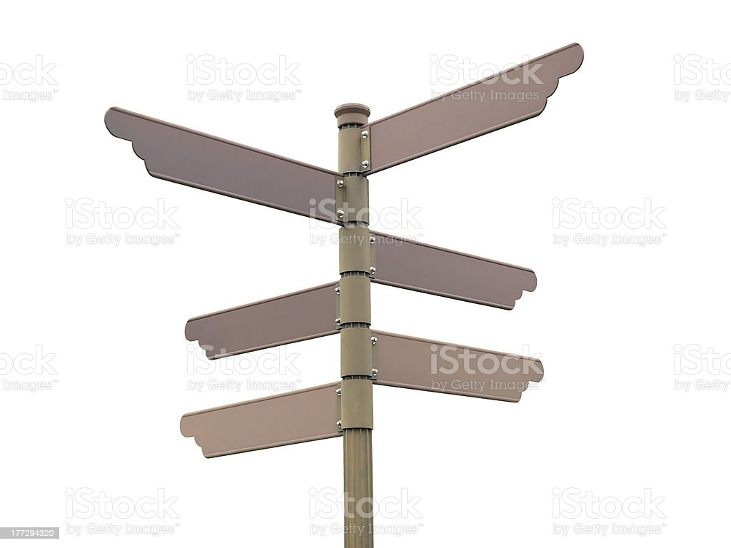 Blank direction signpost stock photo