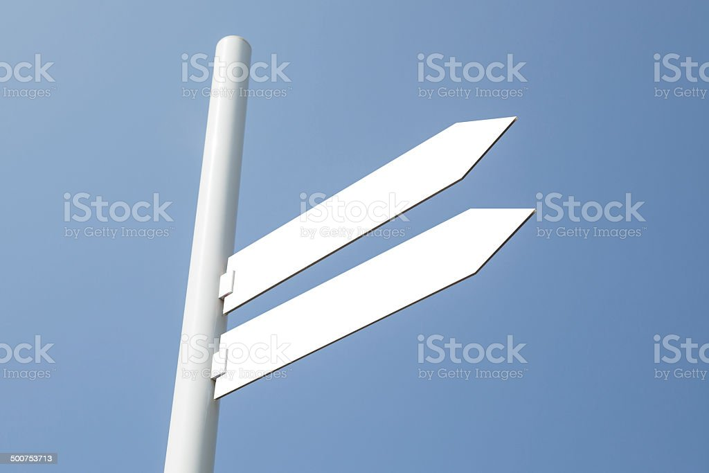 Blank directional sign royalty-free stock photo