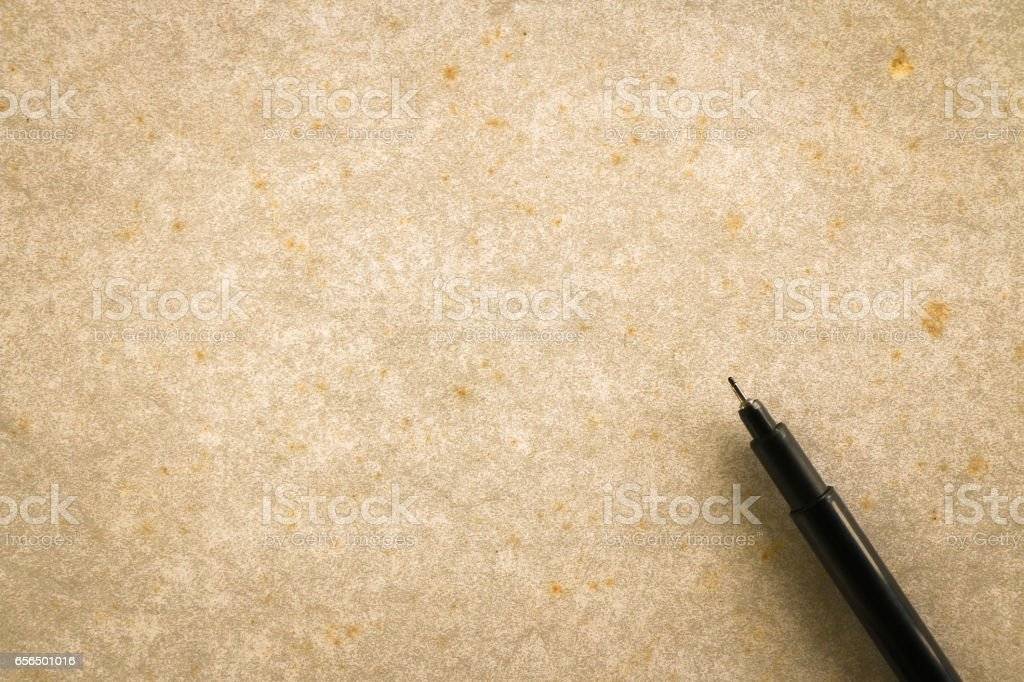 Blank dirty old paper with blank space stock photo