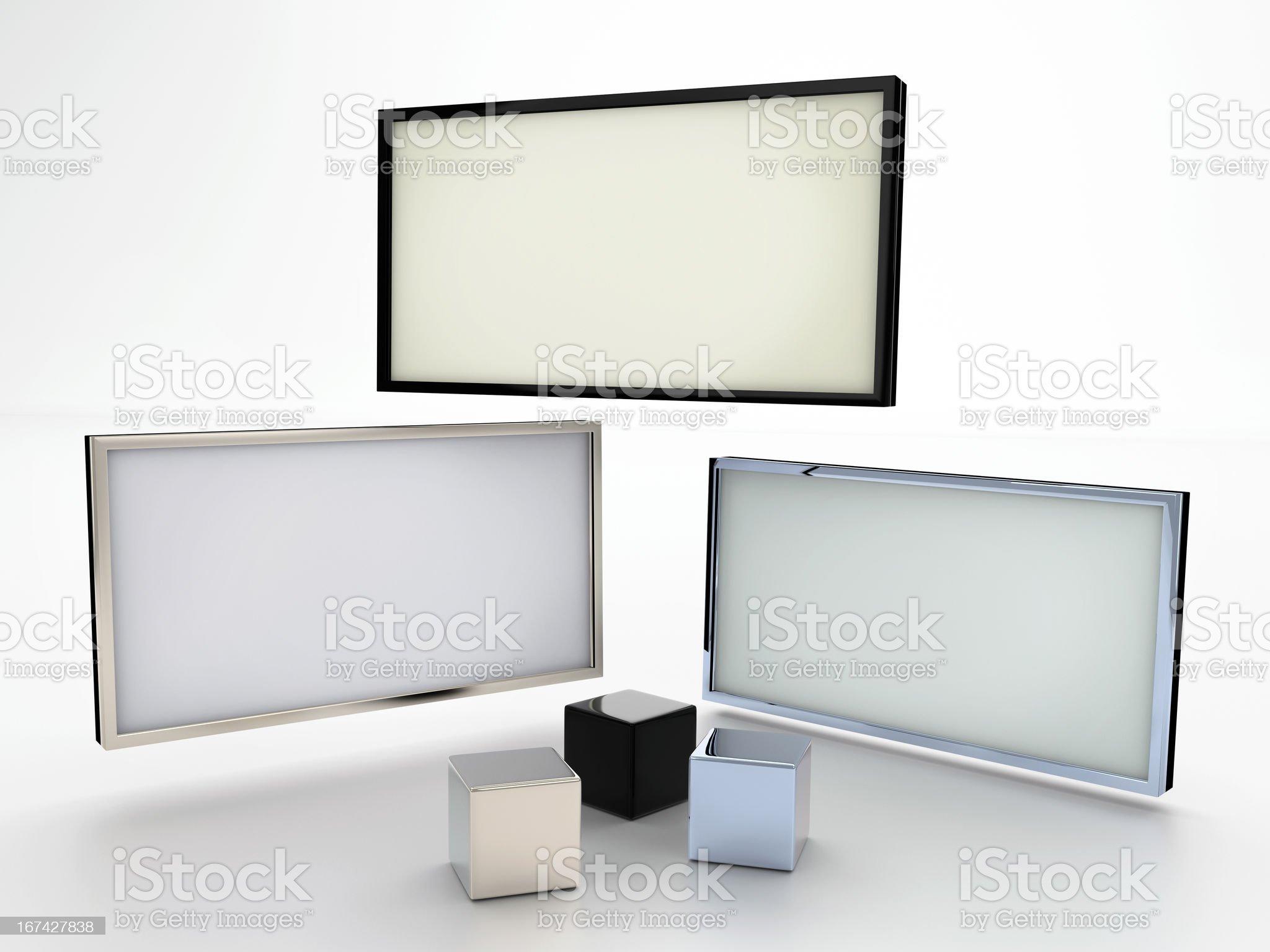 Blank displays royalty-free stock photo