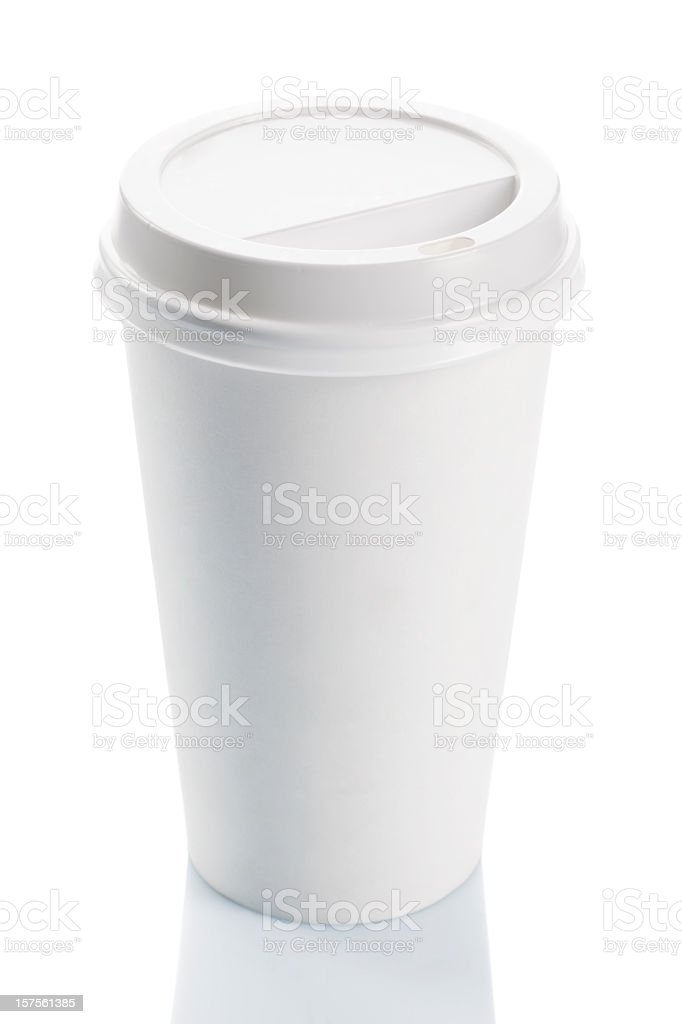 Blank disposable coffee cup royalty-free stock photo