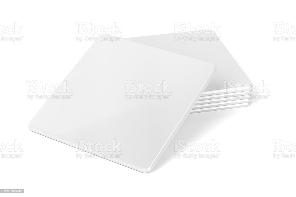 Blank drink coasters stock photo