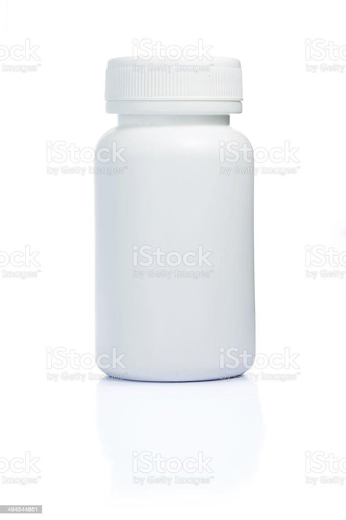 blank drug bottle stock photo