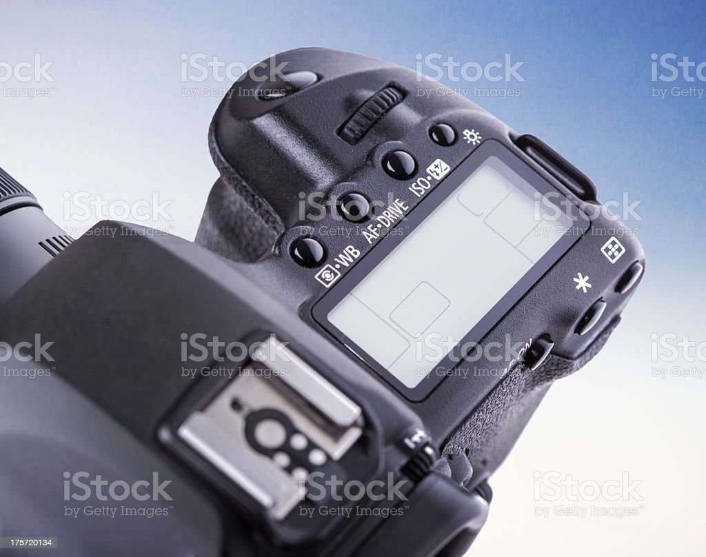 Blank DSLR LCD Display royalty-free stock photo