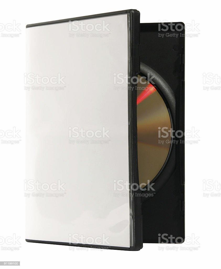 Blank DVD box stock photo