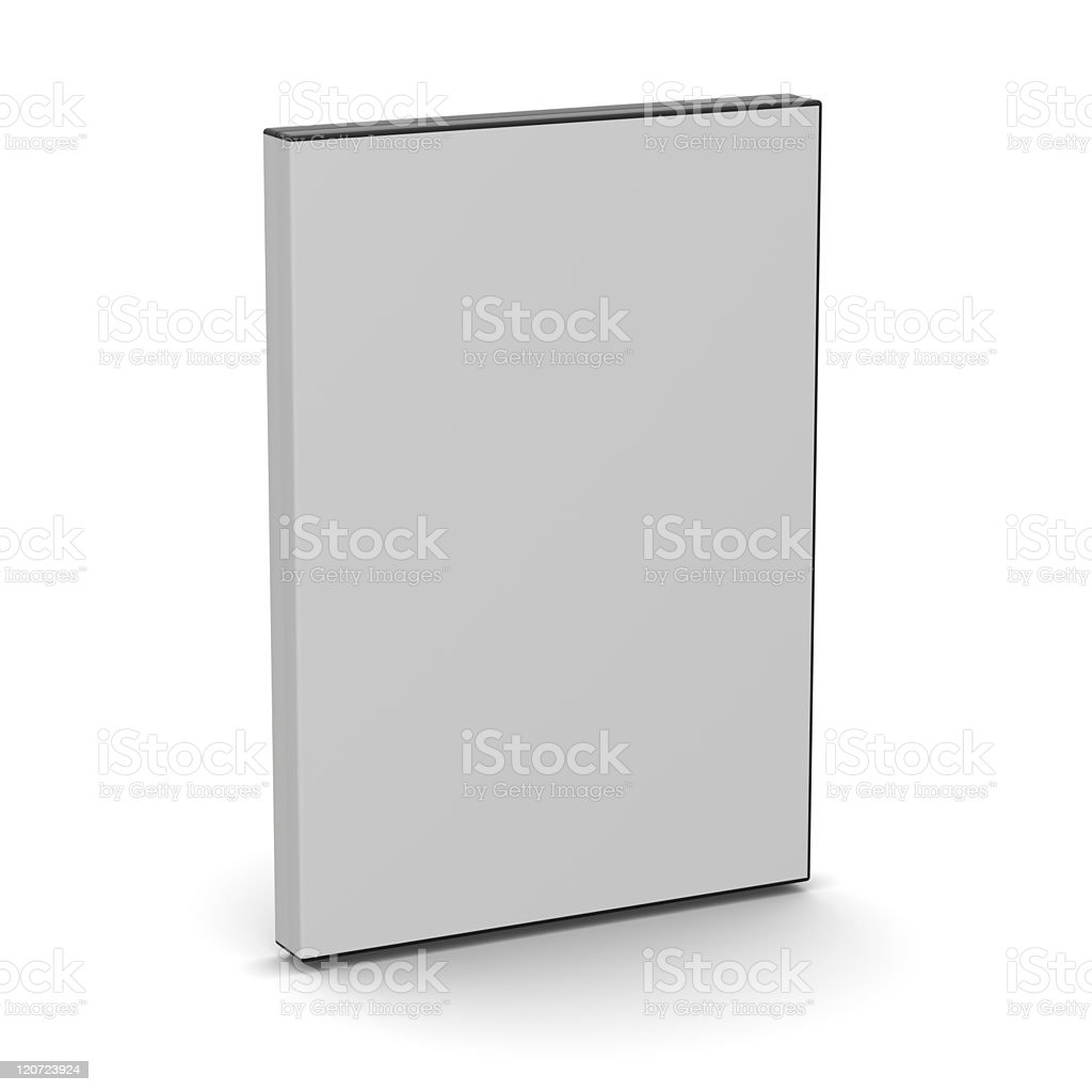 Blank DVD case on a white background stock photo