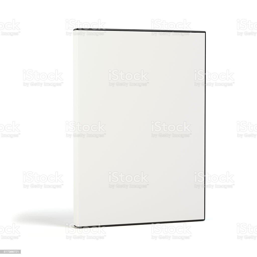 Blank DVD case on white stock photo