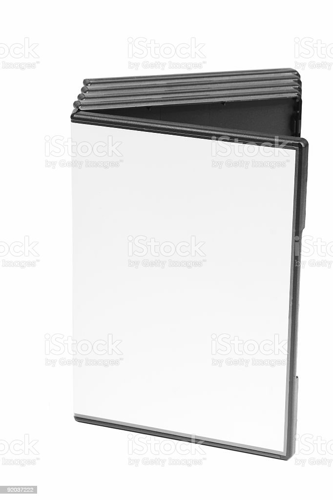 Blank DVD Case royalty-free stock photo