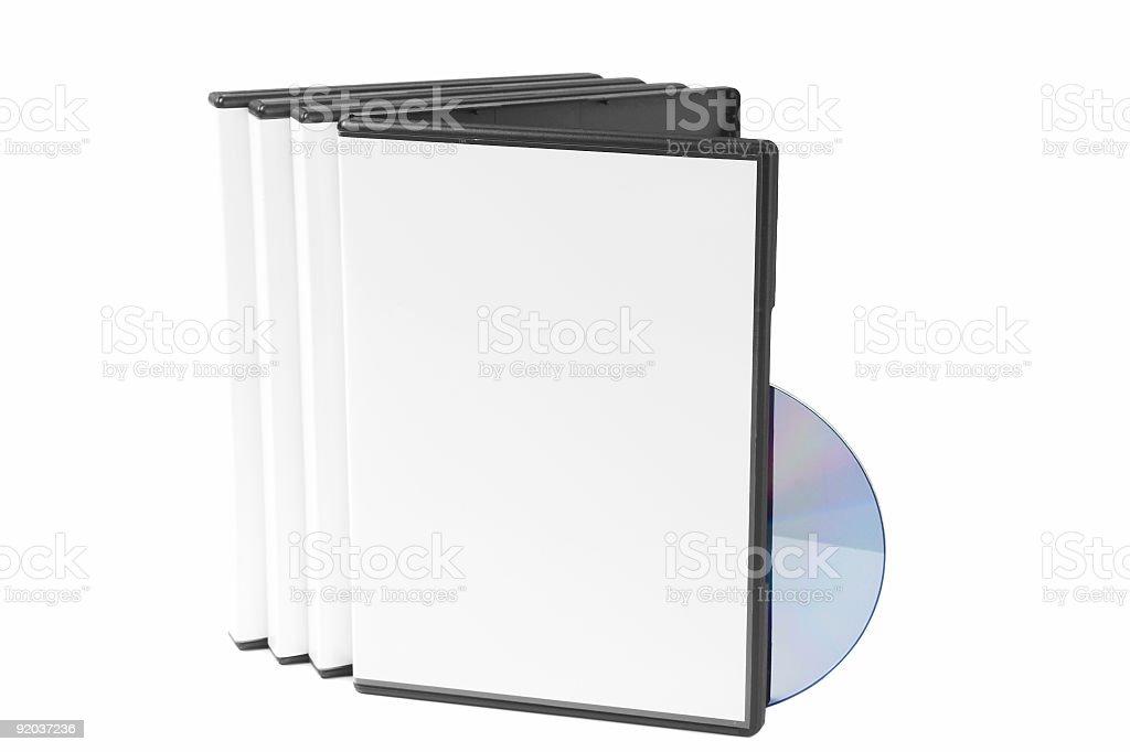 Blank DVD Case w/Disc royalty-free stock photo