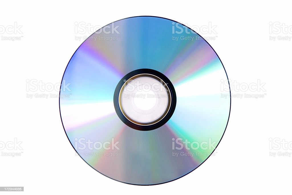 Blank DVD isolated against white background stock photo