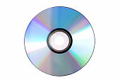 Blank DVD isolated against white background