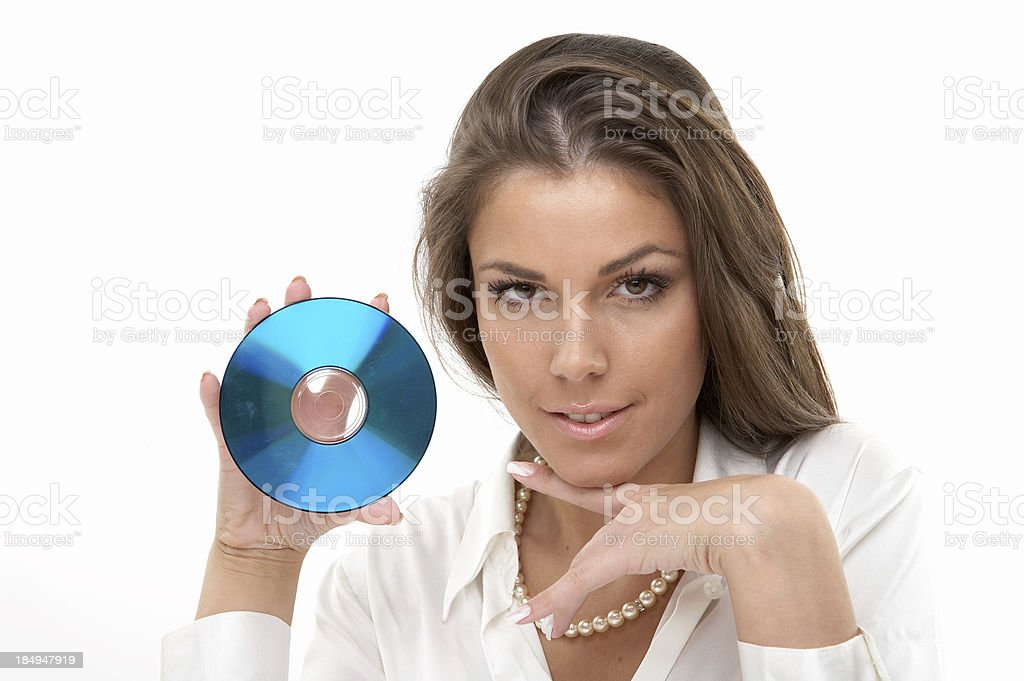 Blank DVD royalty-free stock photo